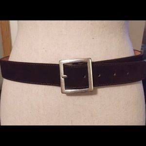 J. Crew Dark Brown Suede Leather Belt